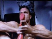 Sexy muscle dude with huge Dildo begging to get fucked