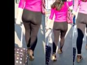 latin with nice ass in black leggings