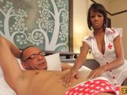 Black tranny nurse buttfucked by patient