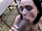 Ally Style's pussy is filled with cum
