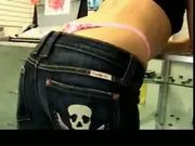 Beautiful girl with preety ass in thong bent over and fucked