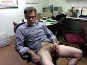 Jerkoff at work office cumshot