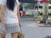 Upskirting Short Skirt Sg Girl