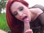 Busty Milf Shanda Fay Fucks Outside at Park!
