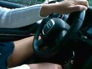German Wife Flashing Tits In Car