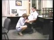 russian office slut fucking