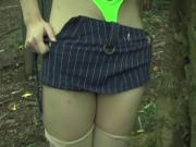 Japanese girl fucked in forest