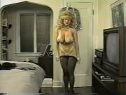 Danni Ashe Takes Off Her Bra And Skirt Showing Pantyhose