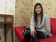 Japanese cute amateure girl with glasses