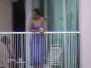Hotel neighbour balcony guy