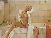 husband fucking french maid but his wife mastrubation in bathroom