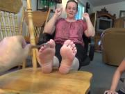 pair of Ladies feet, ticklish