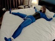Terra Mizu Tied Spread Eagle on the Bed