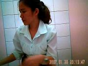 Hidden cam in thai office toilet 2