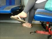 Candid Soles Feet Bus soles