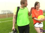 Old teacher and young teen Dutch football player porked by