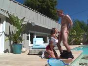 Latina princess and cute teen 18 Nina North Fucks The Pool Man