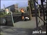 Exhibitionist At A Train Station