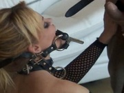 Sexy slave experience facial and anal abuse