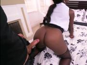Fat ass ebony milf Vickie Starxxx interracial sex