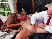 Hardcore ebony lesbian Frankie And The Gang Tag Team A Door To Door