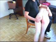 deaf for her howling during spanking