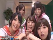Japanese perv schoolgirls fuck their teacher - More at Elitejavhd.com