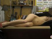 Small tits babe railed at the pawnshop