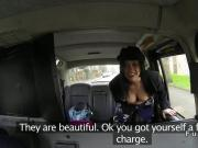 Busty babe fucks huge cock in fake taxi