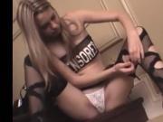 Lexi Sexton masturbates in ripped stockings