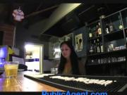 Public agent sexy barmaid closes for sex