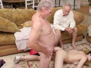 Italian prison old and old man toys with pussy Frankie goes down the
