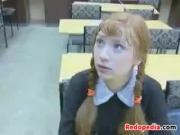Red Haired Schoolgirl And A Teacher