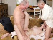 Old man fuck big tit blonde and woman sucking dick Frannkie heads