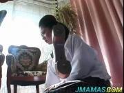 Miho Aikawa gives amazing cock sucking action