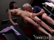 Horny senior Bruce catches sight of a lovely lady sitting behind a