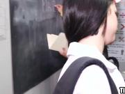 Teacher fucks schoolgirl in the ass with his big cock