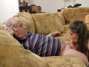 Hot young blonde fucks old guy and woman xxx Chillin with a super hot