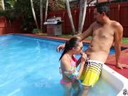 Teen honey tits Swimming In Semen