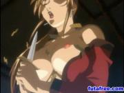 Naked hentai babe caught in black ceremony