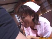 Aoi gives a sizzling blowjob and gets tits sprayed