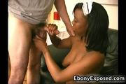 Busty ebony have some handjob of their boss cock 3 by ebonyexposed