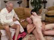 Old man young maid and old lesbian squirt Frankie goes down the
