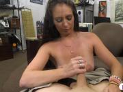 Hot brunette babe screwed by pawn dude