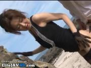 Japanese Milf in stockings fucked hard outdoor - More at Elitejavhd.com
