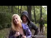 Blonde Fucking In The Forest