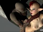 3D fairy babe getting fucked hard by a goblin