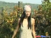 Asian Fucked Outdoors At A Farm