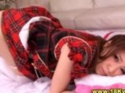 Teen japanese schoolgirl gets hot