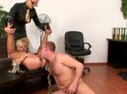 Domina watches as her subjects fuck